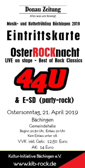 Kartenvorverkauf für OsterRocknacht Bächingen